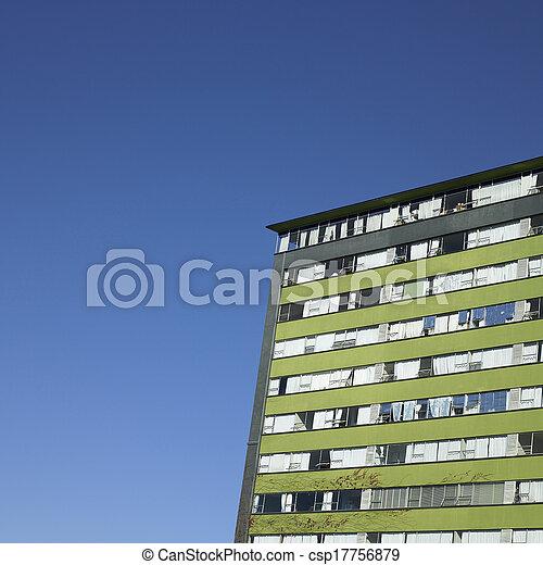 Retro Apartment Complex With Vine Wall Picture