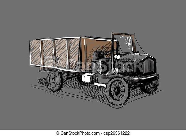 Retro automobile - csp26361222