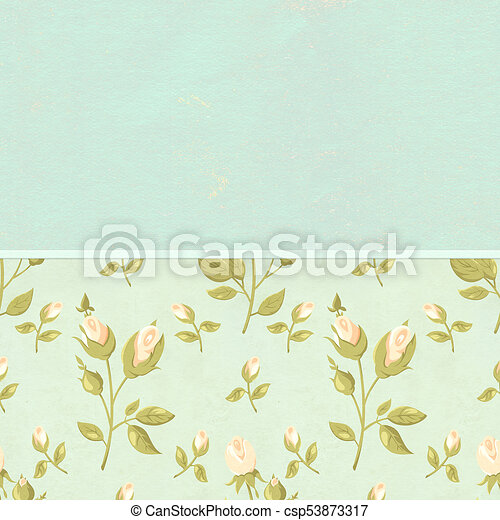Retro Background In Shabby Chic Style