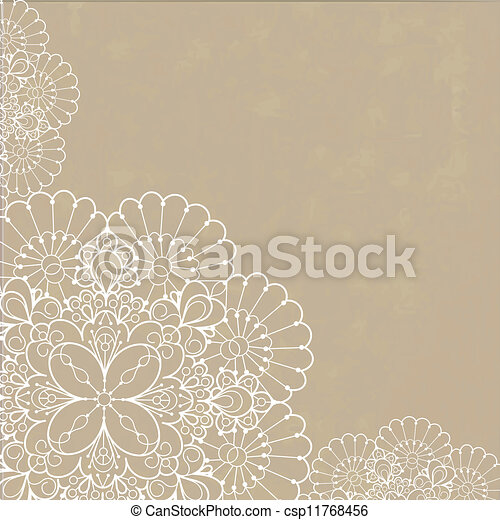 Retro background with lace ornament - csp11768456