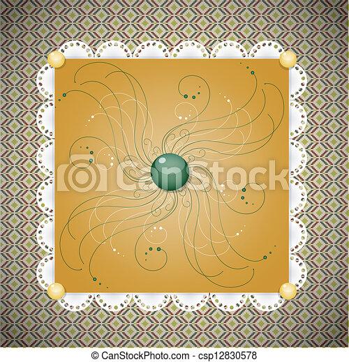 Retro background with pattern. - csp12830578