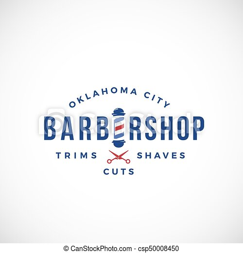 Retro barbershop abstract vector sign emblem or logo template retro barbershop abstract vector sign emblem or logo template vintage typography and barbers pole isolated maxwellsz