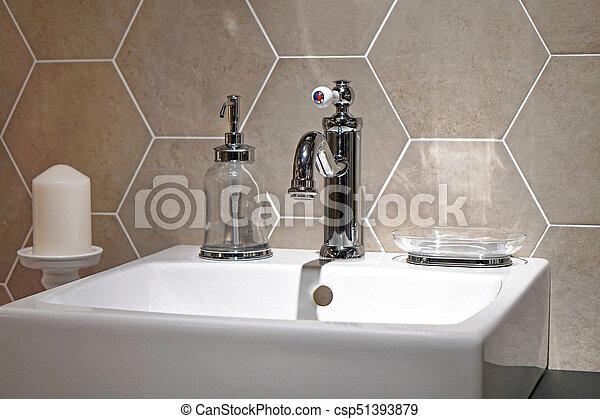 Retro Bathroom Retro Style Bathroom Sink Interior Canstock