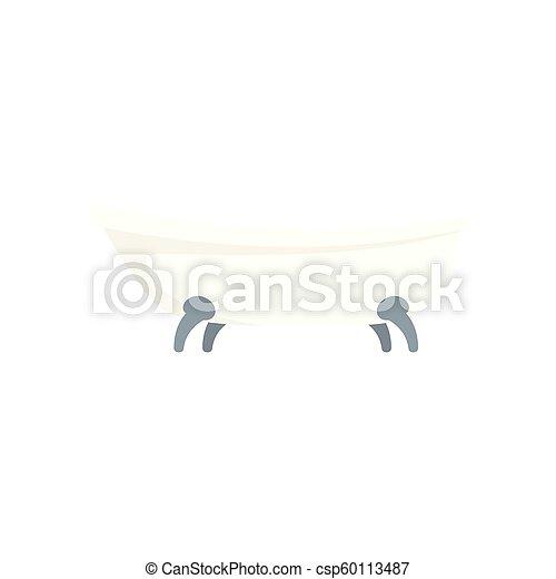 Retro bathtube icon, flat style - csp60113487