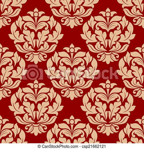 Retro beige floral seamless pattern - csp21662121