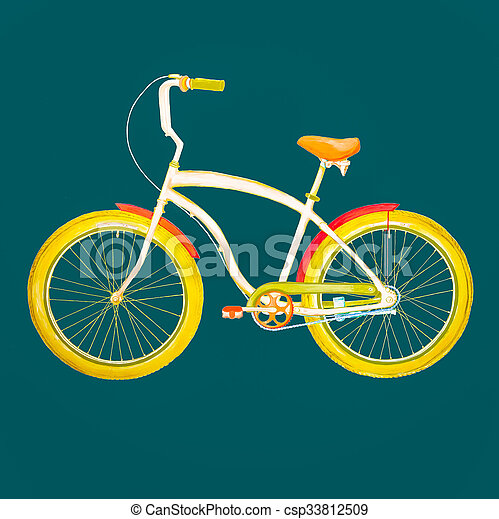 retro, bicycle. - csp33812509