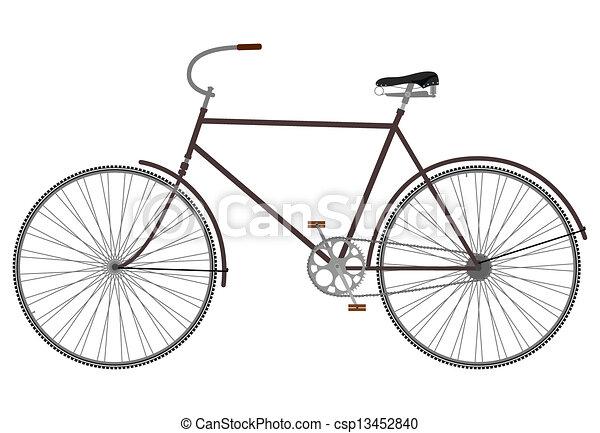 retro, bike. - csp13452840