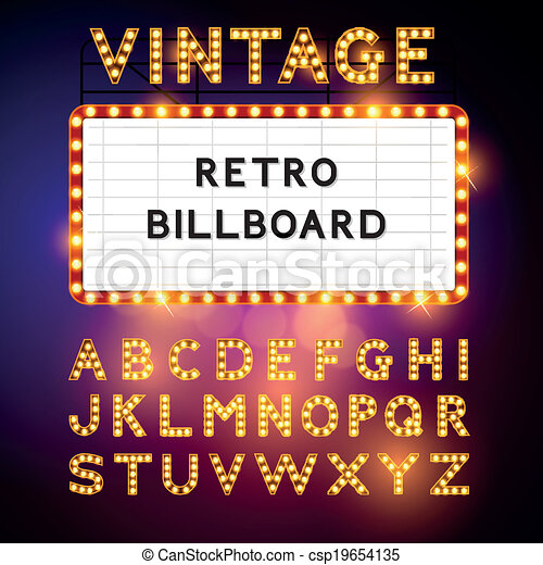 Retro Billboard Vector - csp19654135