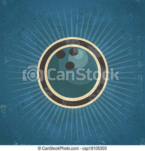 Retro Bowling Ball - csp18105303