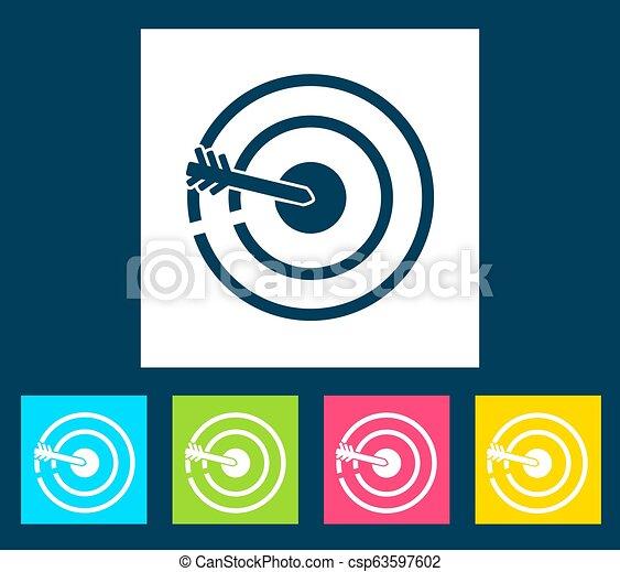 Retro bulls eye icon. Vector illustration design. - csp63597602