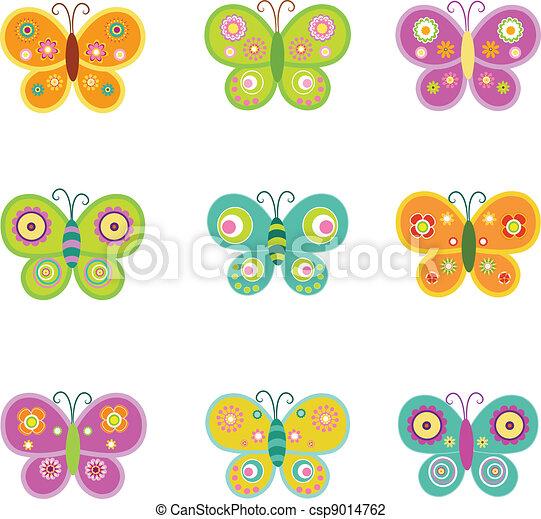 Retro Butterflies - csp9014762