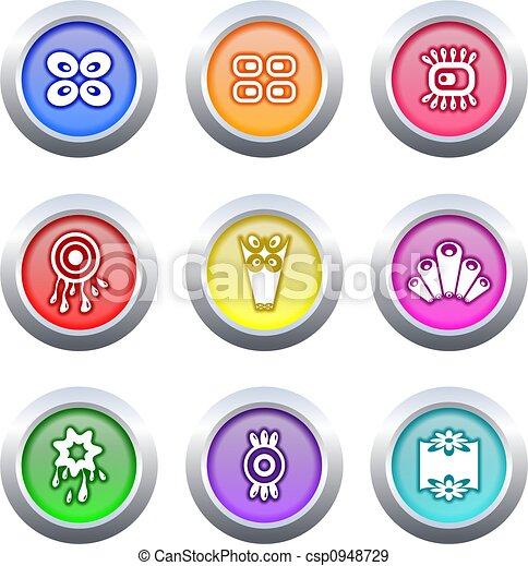retro buttons - csp0948729