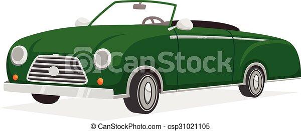 Retro Cabriolet Illustration  - csp31021105