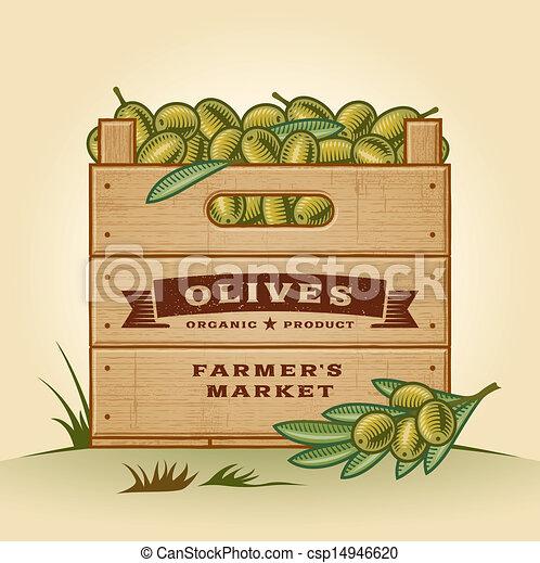 Una caja de aceitunas - csp14946620