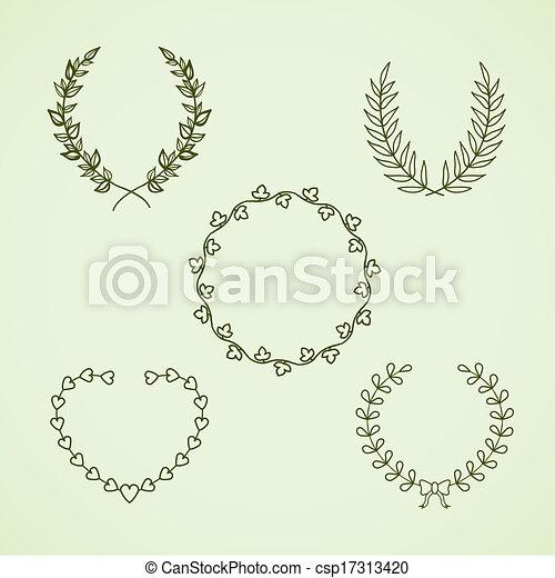 Retro calligraphic wreath - csp17313420