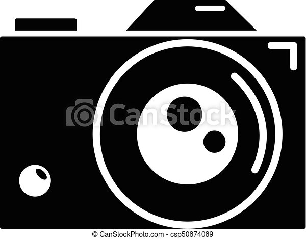 Retro Camera Icon Simple Style