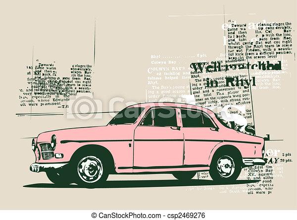 retro car - csp2469276