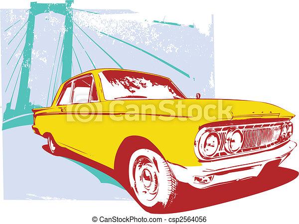 retro car  - csp2564056
