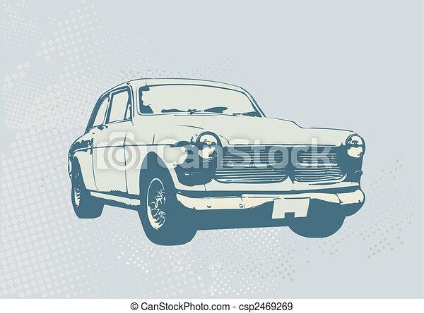 retro car - csp2469269