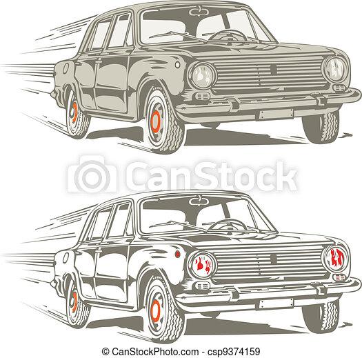 retro car - csp9374159