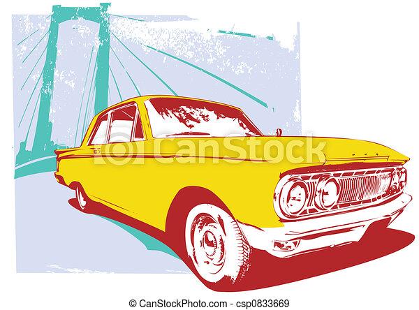 retro car - csp0833669