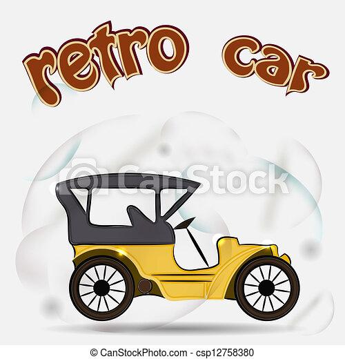 Retro car - csp12758380