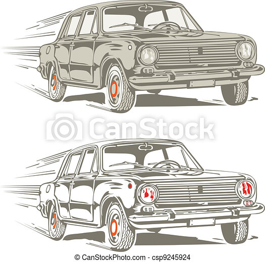 retro car - csp9245924