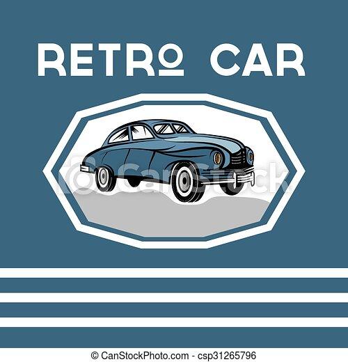 retro car old vintage poster - csp31265796