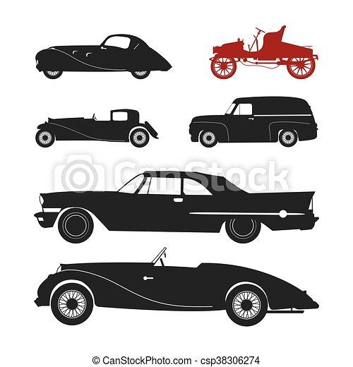 Retro Car Silhouette Eps Clip Art Csp38306274