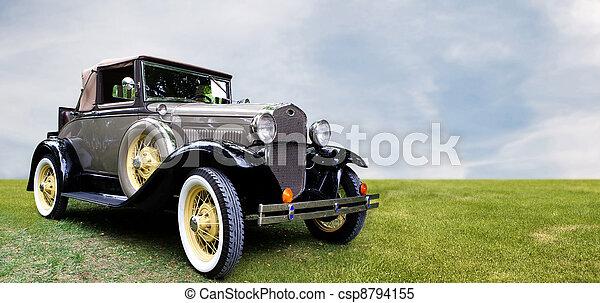 Retro car. - csp8794155