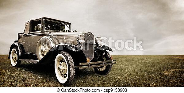 Retro car. - csp9158903