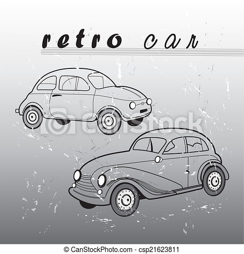 retro car - csp21623811