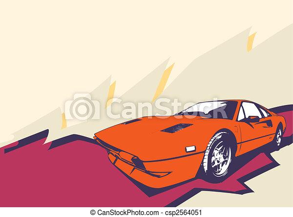 retro car  - csp2564051