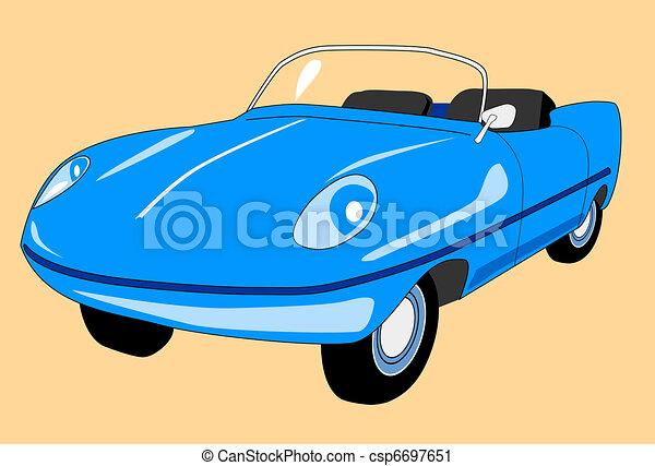 retro car - csp6697651