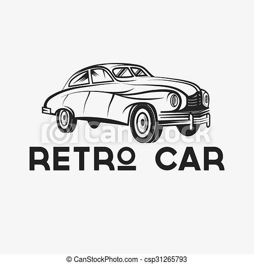 retro car vector design template - csp31265793