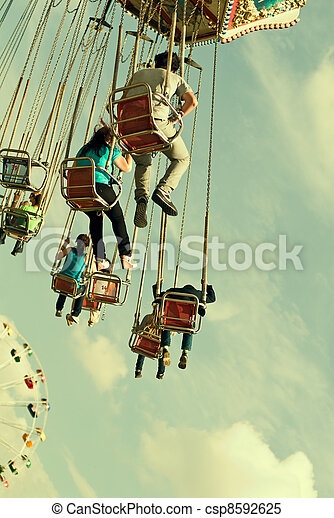 retro, carrousel - csp8592625