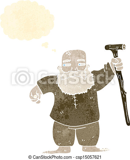 retro cartoon biblical style man - csp15057621