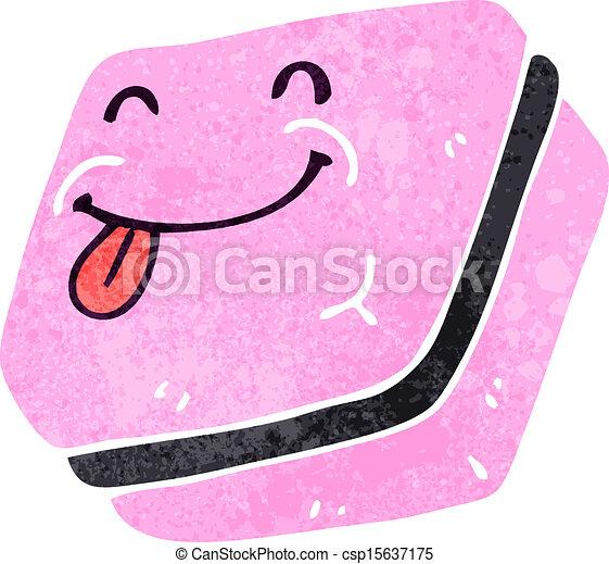 retro cartoon candy - csp15637175