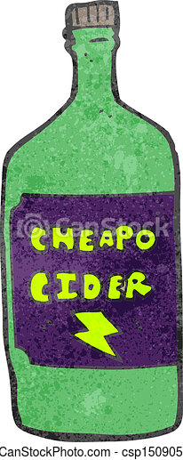 retro cartoon cheap cider - csp15090515