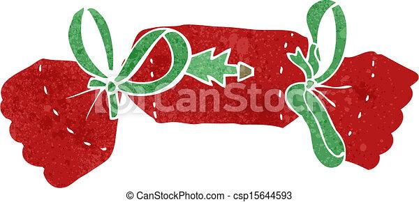 retro cartoon christmas cracker - csp15644593