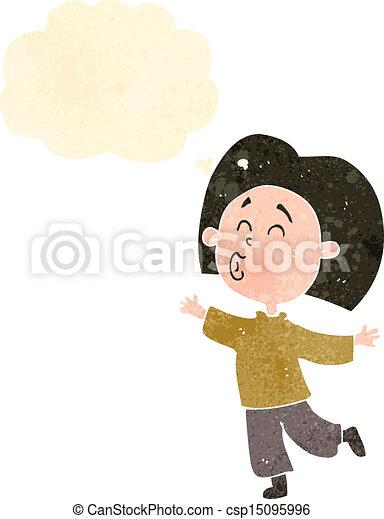 Retro Cartoon Dancing Boy