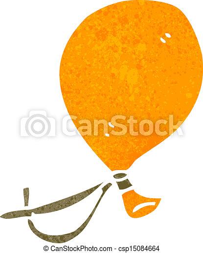 retro cartoon floating balloon - csp15084664
