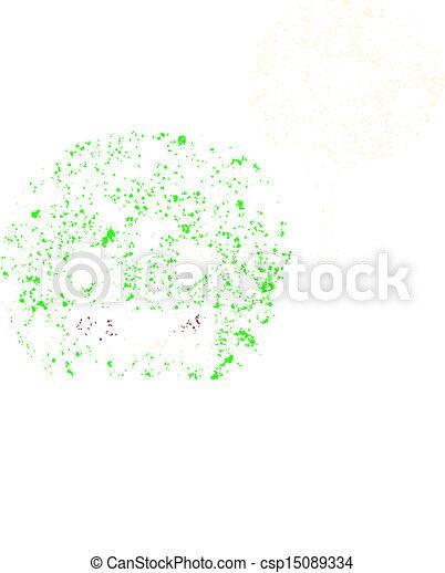 retro cartoon green balloon, - csp15089334
