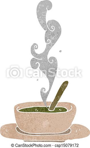 retro cartoon hot soup - csp15079172