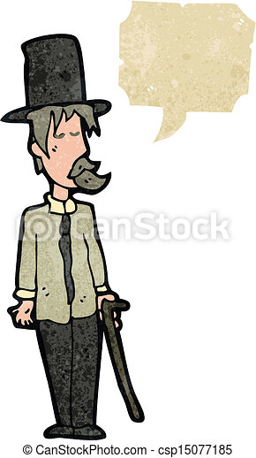 retro cartoon posh tramp - csp15077185