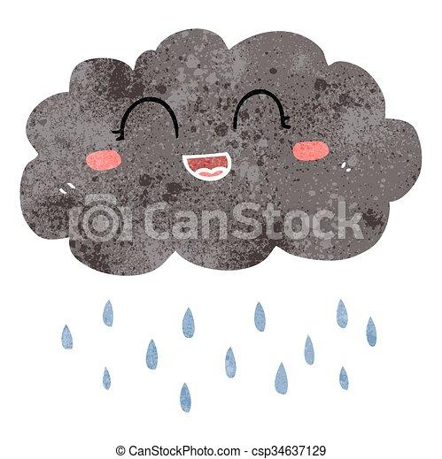 freehand retro cartoon rain cloud rh canstockphoto com cartoon rain cloud and sun cartoon rain cloud with lightning