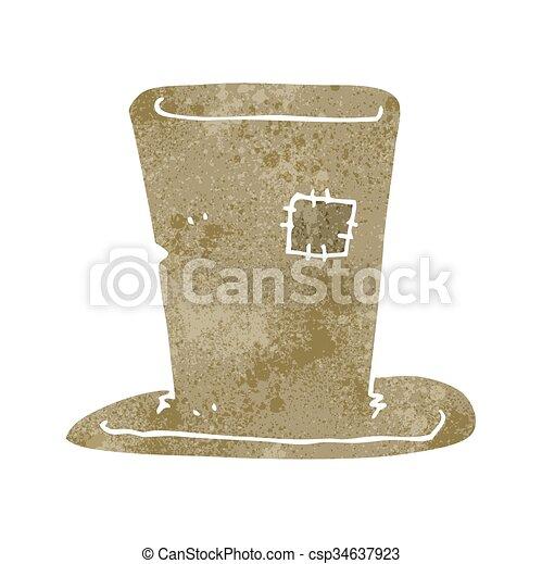 retro cartoon tramp top hat - csp34637923