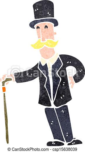 retro cartoon wealthy man retro cartoon illustration on vectors rh canstockphoto ie Poor Man Clip Art Poweful Man Clip Art