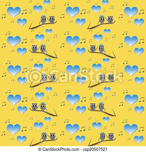 Retro Cat Kids Pattern Wallpaper Background