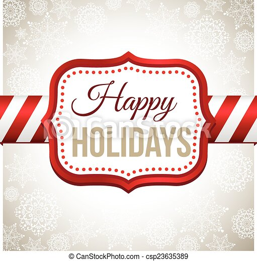 Retro Christmas Background - csp23635389